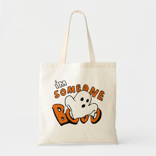 Boo - cartoon ghost - baby ghost - funny ghost tote bag