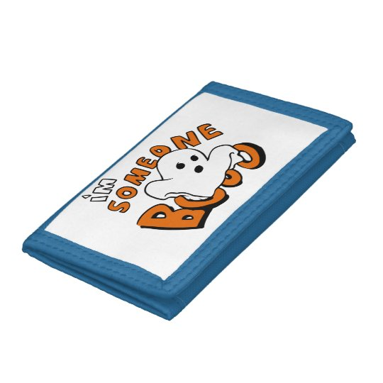 Boo - cartoon ghost - baby ghost - funny ghost tri-fold wallets