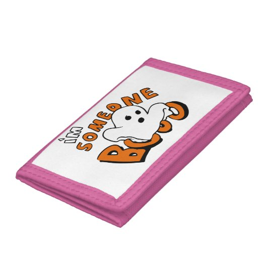 Boo - cartoon ghost - baby ghost - funny ghost trifold wallets