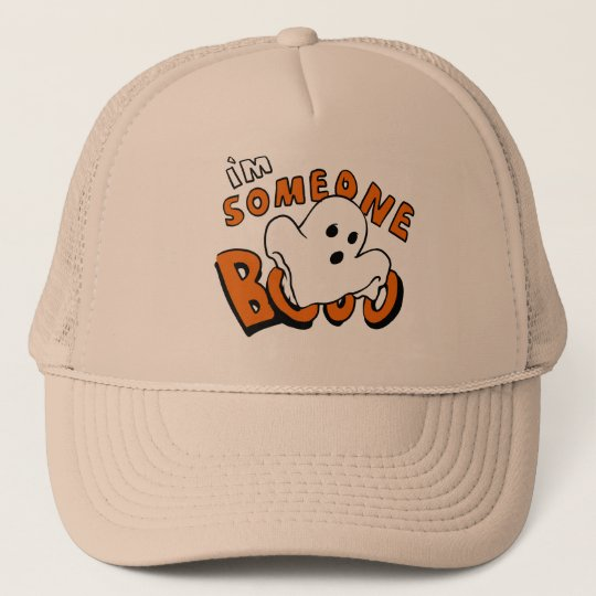 Boo - cartoon ghost - baby ghost - funny ghost trucker hat