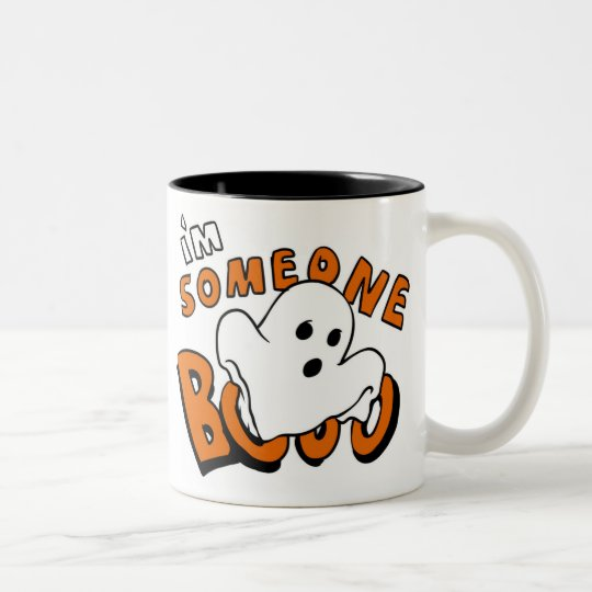 Boo - cartoon ghost - baby ghost - funny ghost Two-Tone coffee mug