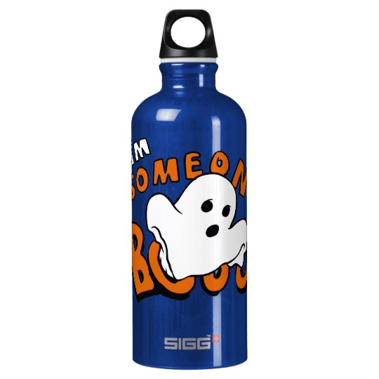 Boo - cartoon ghost - baby ghost - funny ghost water bottle