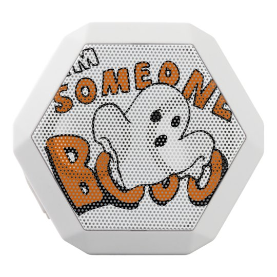 Boo - cartoon ghost - baby ghost - funny ghost white bluetooth speaker