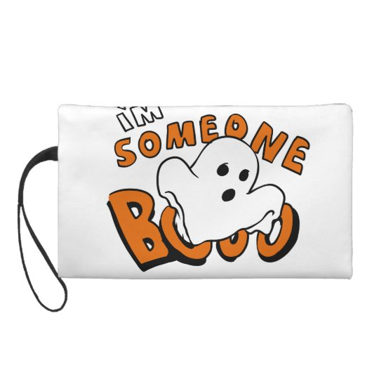 Boo - cartoon ghost - baby ghost - funny ghost wristlet