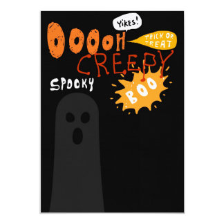 Boo Eeeek Spooky Halloween Invitation