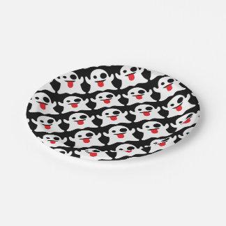 Boo Emoji Ghost 7 Inch Paper Plate