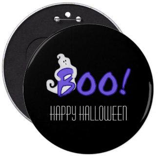 Boo! Ghost Halloween Button
