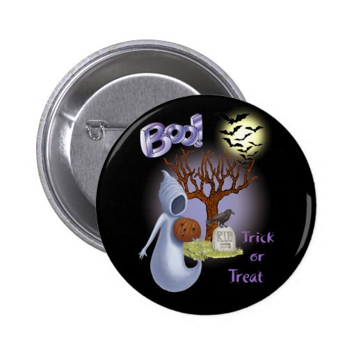 Boo! Ghost & Scary Tree, Bats Button