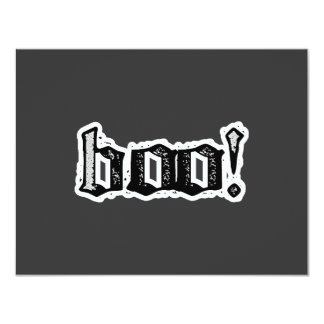 Boo! Gothic Engraved 11 Cm X 14 Cm Invitation Card