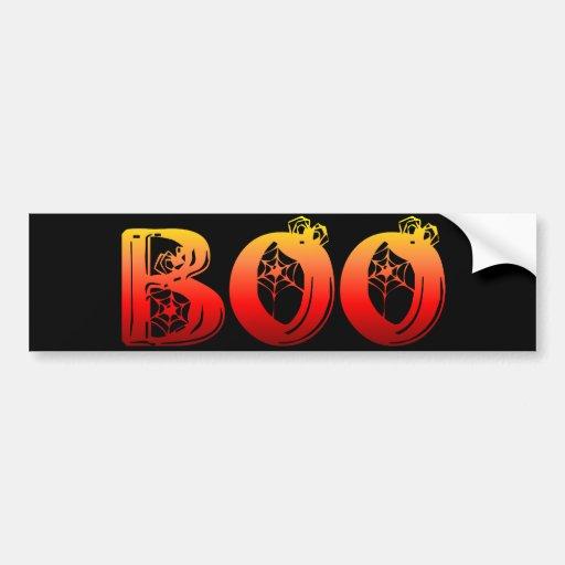 Boo Halloween Bumper Stickers