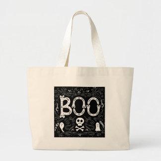 BOO Halloween Large Tote Bag