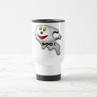 BOO ! HAPPY HALLOWEEN GHOST COFFEE MUGS