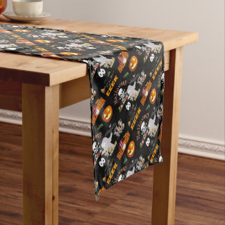 boo invite short table runner