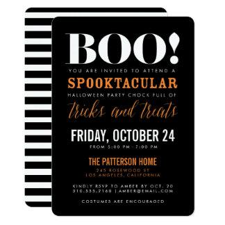 BOO | Modern Halloween Party Invitation