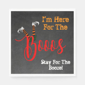 Boo On Halloween Boo and Booze Party Napkins Paper Napkin