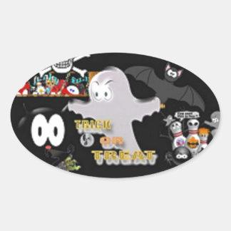 boo oval sticker