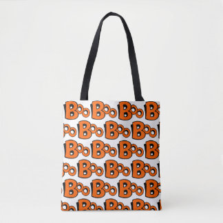 Boo Pattern Tote Bag