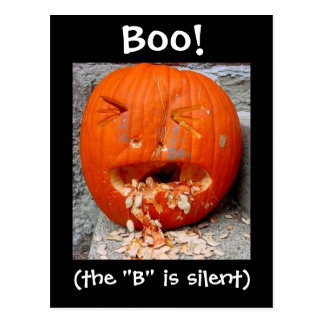Boo! Postcard - the B is silent