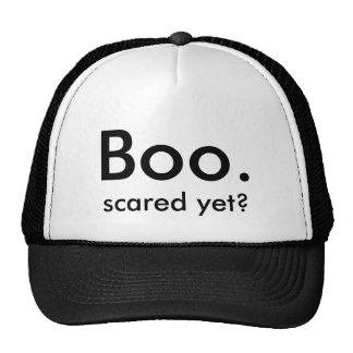 Boo., scared yet? mesh hat