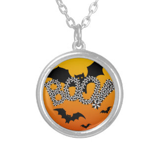 BOO ! SILVER PLATED NECKLACE