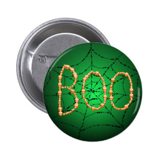 BOO SPIDER WEB  by SHARON SHARPE 6 Cm Round Badge