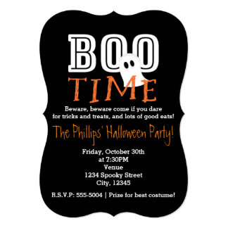 BOO TIME Halloween Costume Party Invitation
