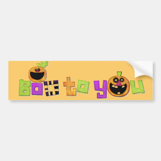 Boo to You Halloween decorative Bumper Stickers
