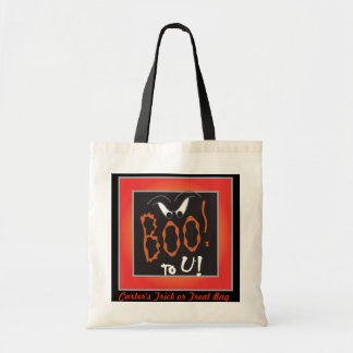 Boo to You Trick or Treat Bag Canvas Bags