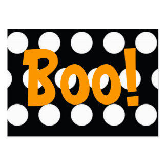 Boo! Treat Bag Tag Business Card Templates