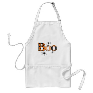 BOO with Spiders Halloween Standard Apron
