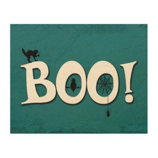Boo! Wood Print
