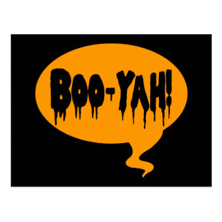 Boo-Yah! Funny Halloween Style Talk Bubble Postcard