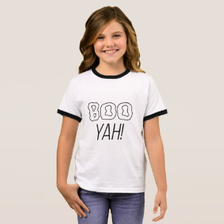 Boo Yah! Ghost Halloween shirt for kids