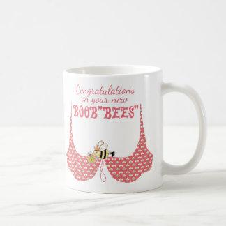 """Boob Bees Gift Mug, Nice Boob""""Bees"""" Boob job Coffee Mug"""