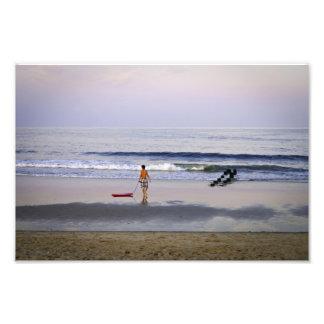 """Boogie Board""  Belmar Beach New Jersey Photo Art"