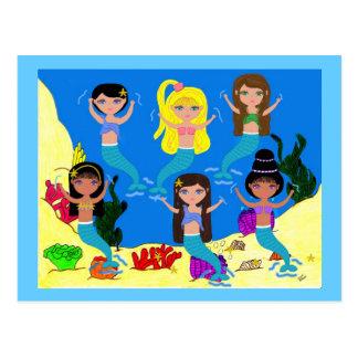Boogie Down in Mermaid Town Postcard