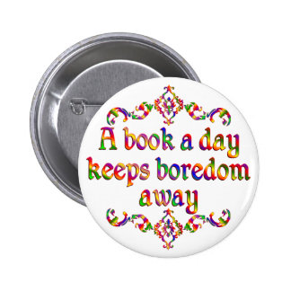 Book a Day Pinback Buttons