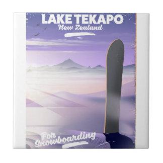 book a trip today lake Tekapo New Zealand Ceramic Tile