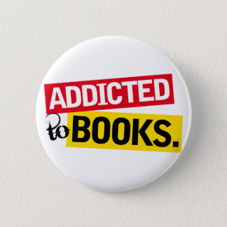 Book Addict Funny Reading Gift 6 Cm Round Badge