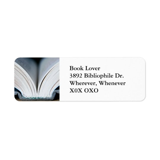 Book Address Label