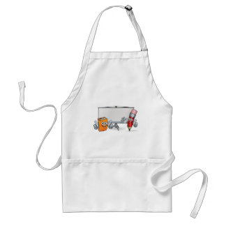 Book and Pencil Mascots and Whiteboard Standard Apron