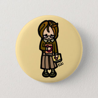 book badge. 6 cm round badge