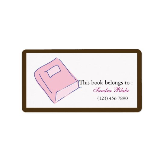 Book - Bookplates Label Address Label
