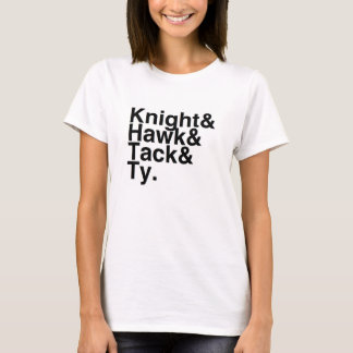 Book Boyfriend- Knight, Hawk, Tack, Ty T-Shirt
