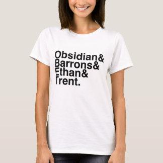 Book Boyfriend- Obsidian, Barrons, Ethan, Trent T-Shirt