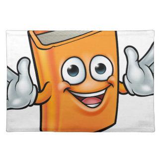 Book Cartoon Character Mascot Placemat