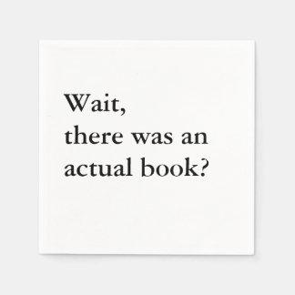 Book Club Cocktail Napkins - Wait Disposable Napkin