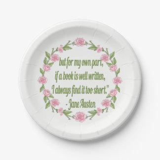 Book Club Event Party Plate