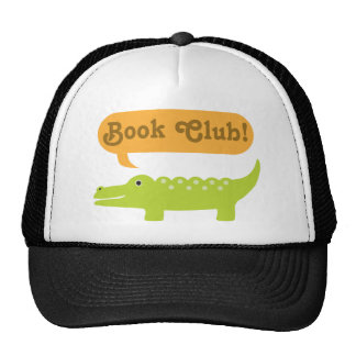 Book Club Gift Idea Alligator Trucker Hats