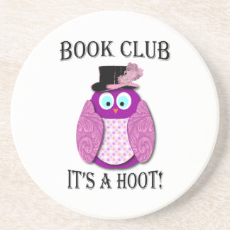 Book Club - It's A Hoot - Pink Design Drink Coaster